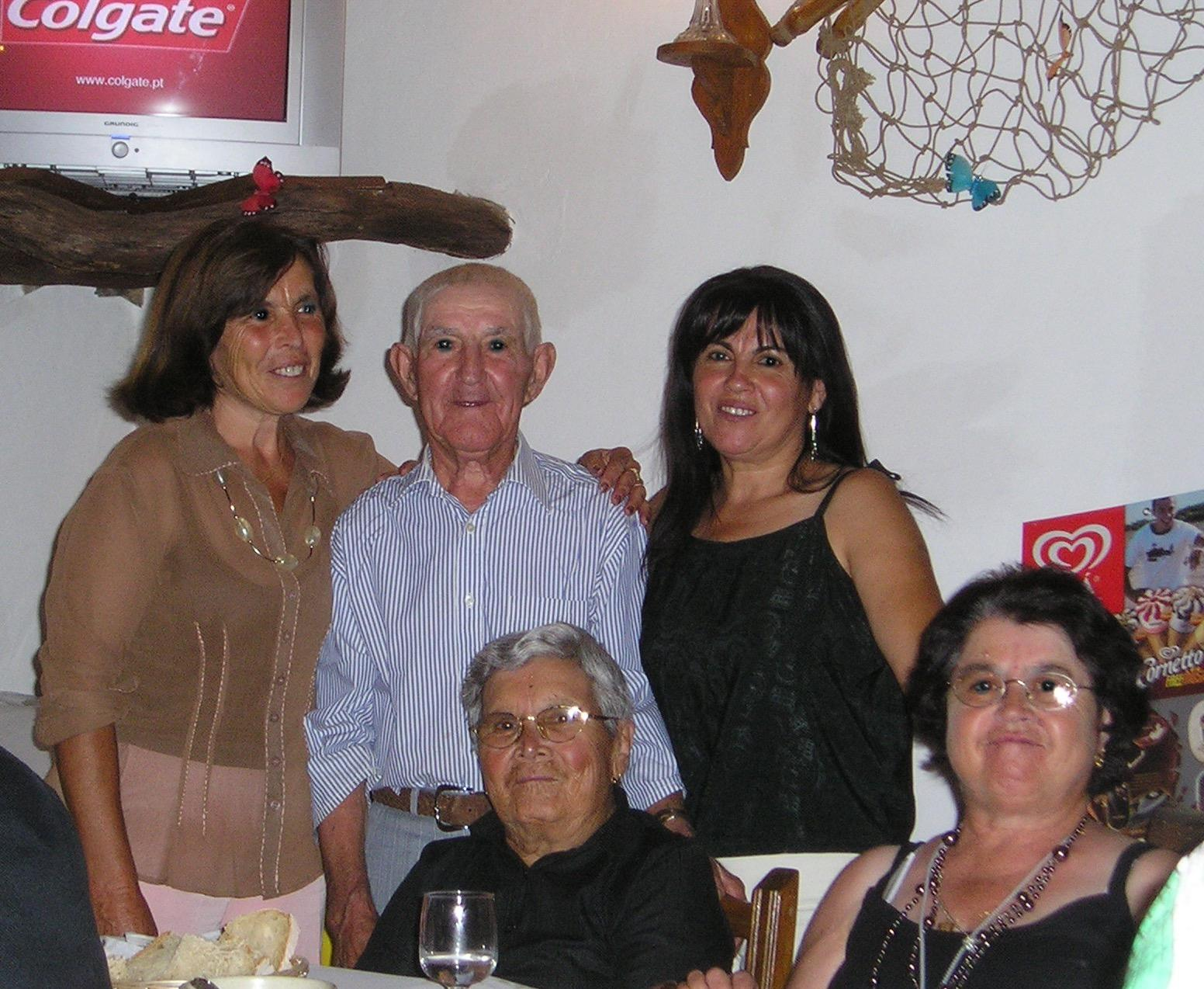 Our Portuguese Family From left to right:  back row:  Laurentina, Manuel, Maria dos Anjos From left to right:  front row:  Adelaide and Maria da Fé
