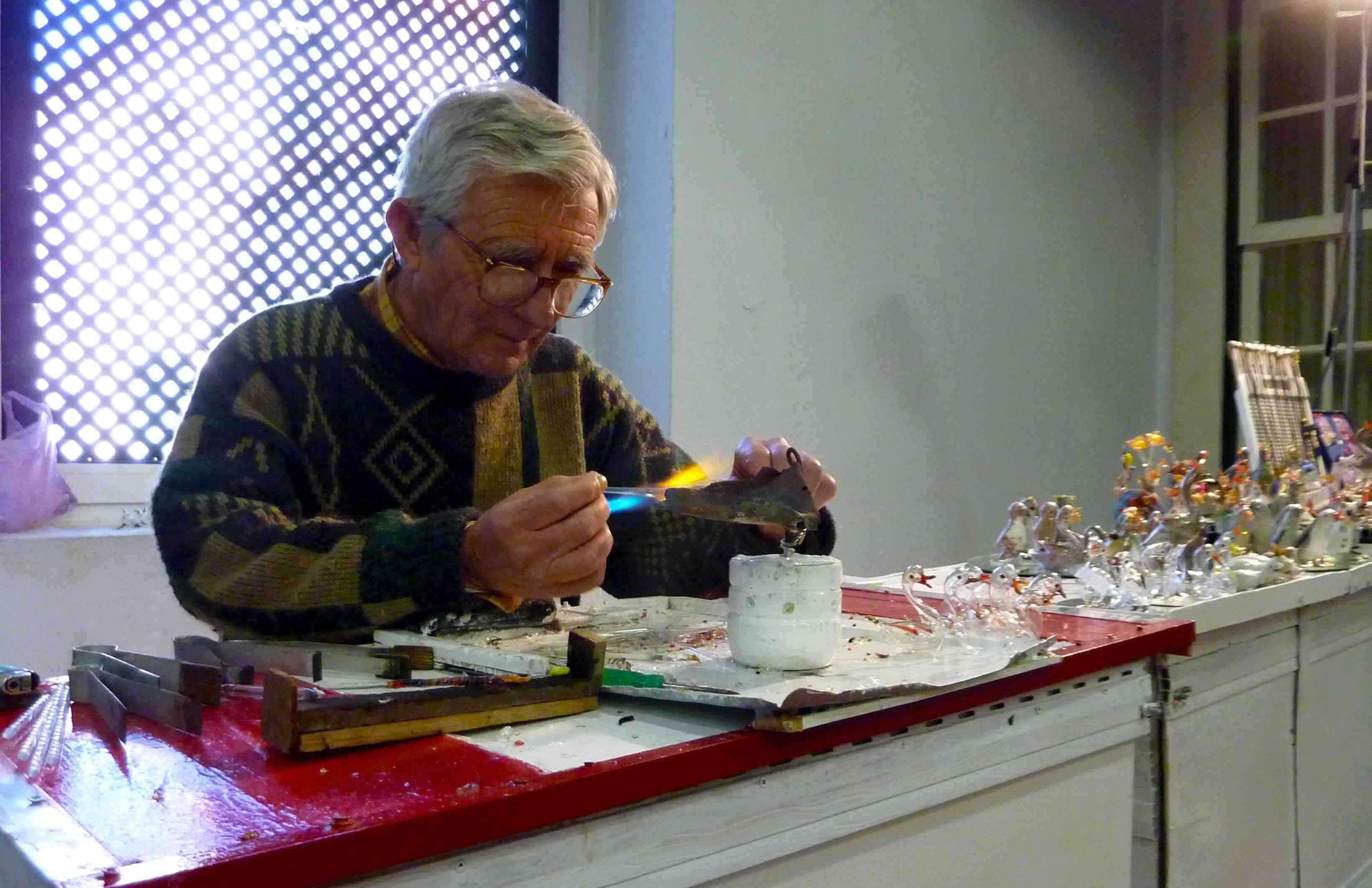 Glassmaker at Work