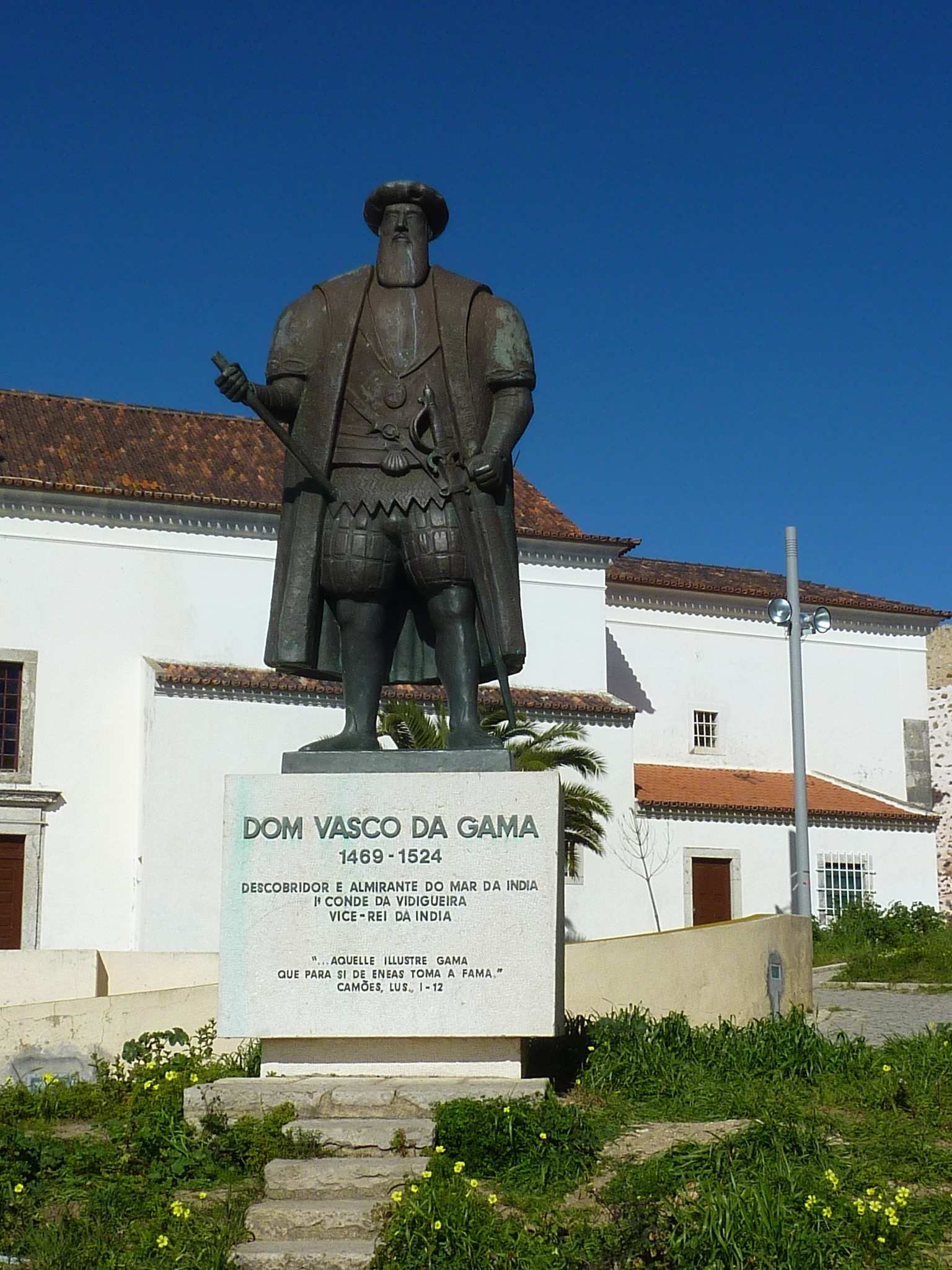 Statue  of Vasco da Gama in Sines