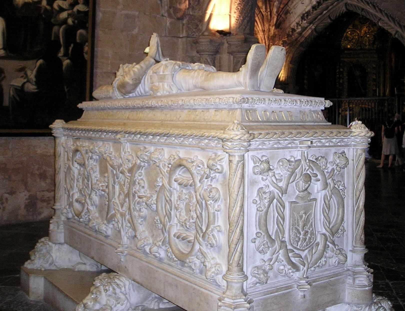 Vasco da Gama's Tomb in the Jéronimos Monastery , Lisbon